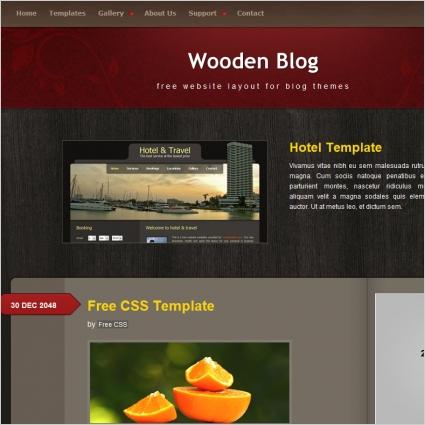 wooden blog