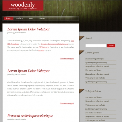 woodenly