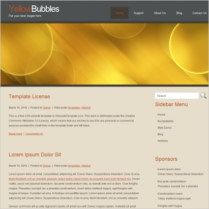 YellowBubbles Template