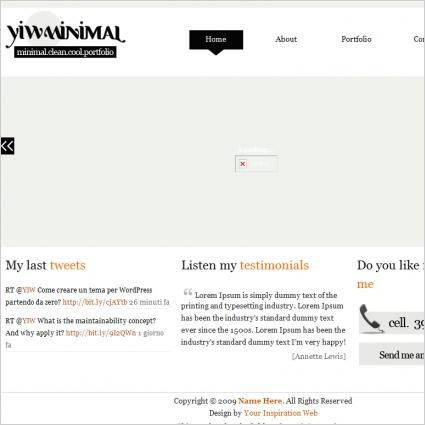 YIW Minimal Template