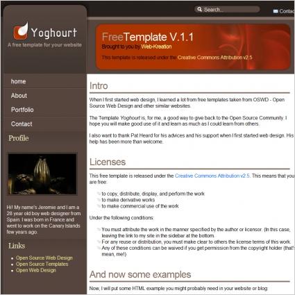 Yoghourt V1.1 Template