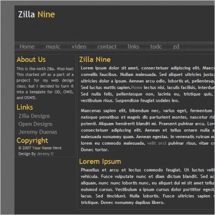Zilla Nine Template