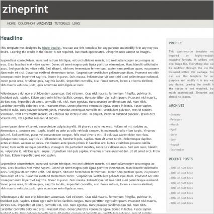 Zine print Template
