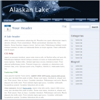 Alaskan Lake Template