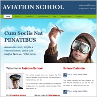 Aviation School Template