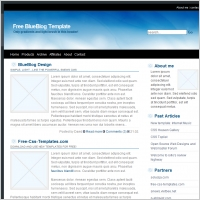 Blue Blog Template