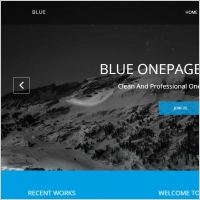 blue one page website template