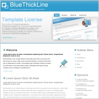 Blue Thick Line Template