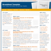 Broadsheet Template