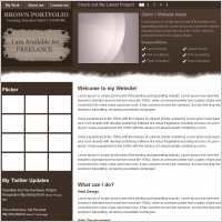 Brown Portfolio Template