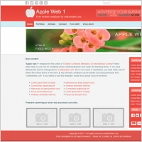 apple web by codetomakecom - Free Website Templates