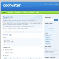 CoolWater 1.0 Template