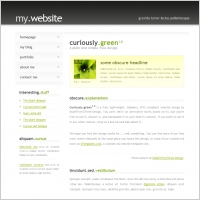 Curiously Green 1.0 Template