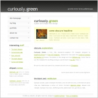 curiously green