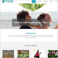 dance school website template