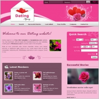 Welcome lovebirds to your dating service with this friendly template.