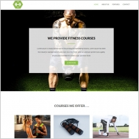 fitness and gym website template