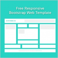 free blank responsive web template