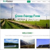 green energy website template