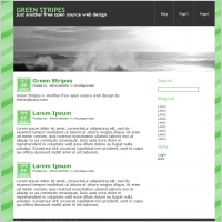 Green Stripes Template