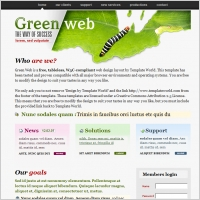 Green Web Template