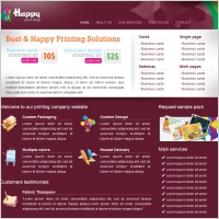 Happy Print Shop Template