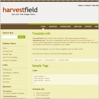 Harvest Field 1.0 Template