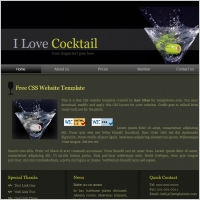 I Love Cocktail Template