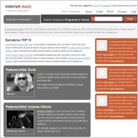 Internet Music Template