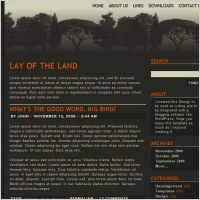 Lay of the Land Template