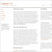 Leaves v1.0 Template