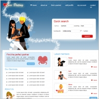 gratis HTML templates voor dating website