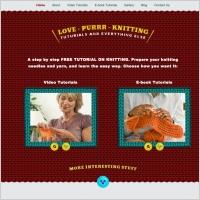 Love Purr Knitting Template