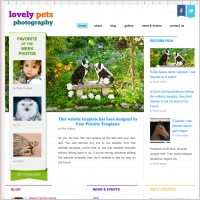 Lovely Pets Photography Template
