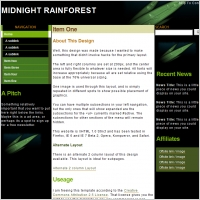 Midnight Rainforest Template