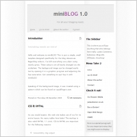 mini BLOG Template
