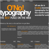 O No! Typography Template