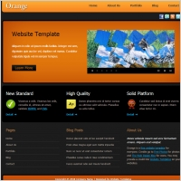 orange about us page tamplate