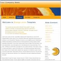 Orange Juice Template