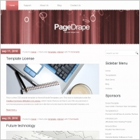 Page Drape Template