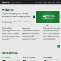 PageOne Template