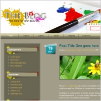 Paint Blog Template