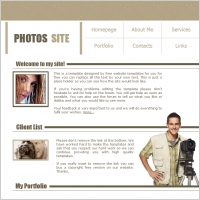 Photos Site Template