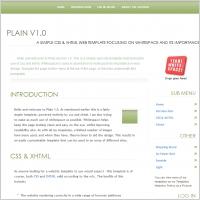 Plain 1.0 Template