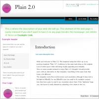 Plain 2.0 Template