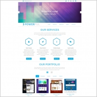 powerful bootstrap template