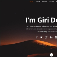 profile website template