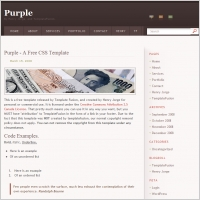 Purple Blog Template