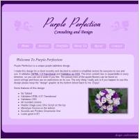Purple Perfection Template