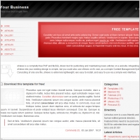 Red Business Template